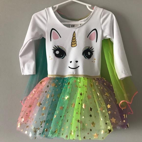 98c2dfed80 H&M Dresses | Hp Toddler Hm Unicorn Dress W Tulle Skirt | Poshmark